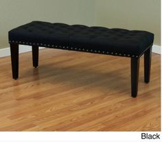 Black Linen Bench for dining table
