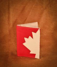 Deerskin Canadiana Passport holder. #leather #Canada #handmade #rockwood #ontario #like #daily #fashion #hidesinhand