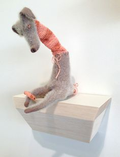 """""""Alastair"""" by Lynda Wilson 2013 from exhibition Fancy That Exhibitions, Dinosaur Stuffed Animal, Fancy, Sculpture, Toys, Animals, Activity Toys, Animales, Sculpting"""
