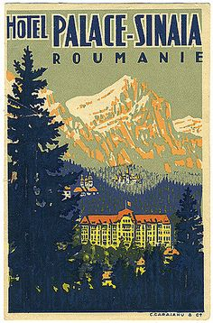 Vintage Ski Posters, Art Deco Posters, Vintage Ads, Romania Travel, Vintage Hotels, Travel Wall, Poster Ads, Old Pictures, Illustrations Posters