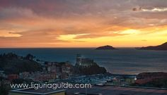 Enjoying the magnificent peaches of a sunset over Lerici Bay...