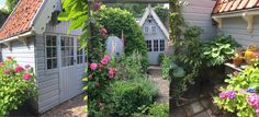 Toen ik het schuurtje zag, was ik verkocht! - Anita Home Blog Was, Outdoor Structures, Patio, Blog, Inspireren, Garden Sheds, Gardens, Studio, Garden Cottage
