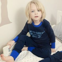 """Longsleeves and long pants for long and cold nights! We simply love boys in blue! ;) """"I am not sleeping, I am just resting my eyes"""" :)"""