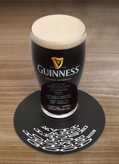 Clever advertising: beer coaster - Imgur