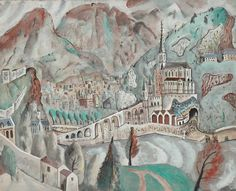 Our work of the week is David Jones' 'Lourdes', 1928. This work is currently on display in 'David Jones: Vision and Memory' at Djanogly Art Gallery, Nottingham, until 5 June 2016.