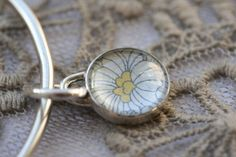 Sterling silver bangle with pendant by PlatinaJewellery on Etsy