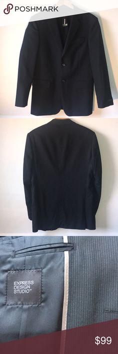 Express Men's Black Pinstriped Blazer 38R Brand new. Outer: 98% wool, 2