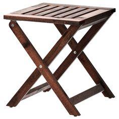ÄPPLARÖ Stool, foldable - IKEA  $24.99  Compliments the bench/wall.