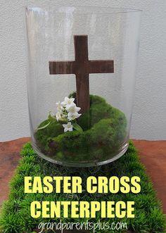 Easter Cross Centerpiece DIY - WonderfulDIY.com