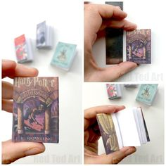 DIY Harry Potter Mini Books - adorable little Mini Notebook DIY for Harry Potter fan. Complete with free Harry Potter Book Cover Printables, these are super cute DIY Notebooks to make for all Harry Potter fans! Harry Potter Thema, Harry Potter Free, Harry Potter Dolls, Harry Potter Potions, Harry Potter Cosplay, Harry Potter Crafts Diy, Harry Potter Gifts, Harry Potter Notebook, Harry Potter Book Covers