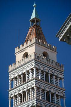 Pistoia - Cattedrale di San Zeno - Campanile (12th c.) | REGIONE TOSCANA Northern Italy, Cinque Terre, Pisa, Tuscany, Rome, Architecture, Building, Travel, Italia