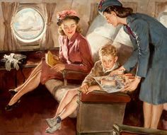 """On The Plane"" by Harold N. Anderson (1894 – 1973, American)"