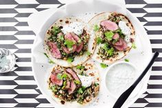 Make mid-week meals easy and healthy with these lamb tortillas - they are the ultimate finger food!