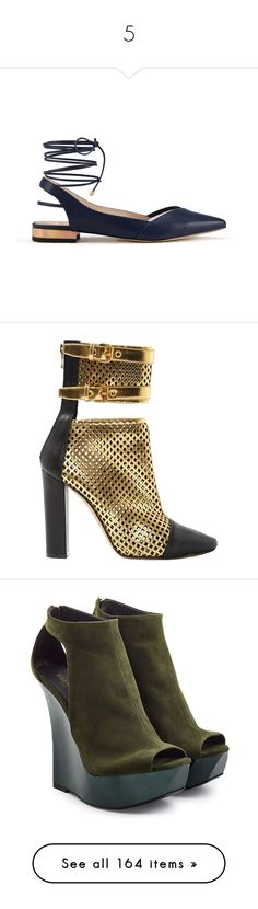 """""""5"""" by yee-yan ❤ liked on Polyvore featuring shoes, boots, ankle booties, balmain, gold, black high heel boots, leather bootie, high heel ankle boots, leather booties and black pointed toe booties"""