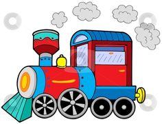 Illustration about Steam locomotive on white background - vector illustration. Illustration of draw, drawing, colors - 8690090 Montessori Activities, Preschool Worksheets, Learning Activities, Preschool Activities, Train Clipart, Vector Clipart, Vector Stock, Train Cartoon, Transportation Activities