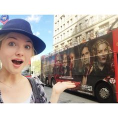 Great start to fashion week...arriving in NYC only to see my squad roll past me on a bus! This is surreal! #screamqueens #nyfw #squadgoals