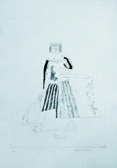 David Hockney, 'The Rescued Princess' Etching and aquatint, 1969.