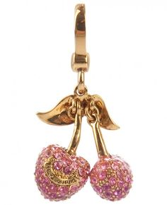 Juicy Couture Pave Cherries Charm