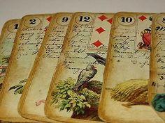 Spec Handwritten Antique Dondorf Lenormand Fortune Telling Tarot Card Deck 1887 | eBay