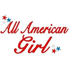All American Girl - 3 Sizes! | 4th of July | Machine Embroidery Designs | SWAKembroidery.com Band to Bow