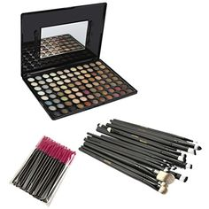 Youngman Makeup Combo 88 Colors Palette   20 Pcs Makeup Brushes   50 Pcs Eyelash Brushes Disposable Mascara Wands 2