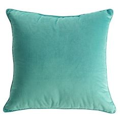 Blue Plush Pillow maybe for aqua accents in living room