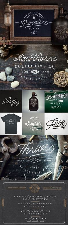 Growler - a New retro inspired script font. #vintage #typeface