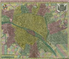 PARIS I Old Maps of Paris - Year 1750. Zoomable (Is that a word??)!!