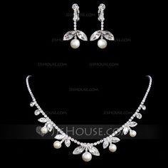 Jewelry - $22.49 - Elegant Alloy/Rhinestones Women's Jewelry Sets (011017094) http://jjshouse.com/Elegant-Alloy-Rhinestones-Women-S-Jewelry-Sets-011017094-g17094