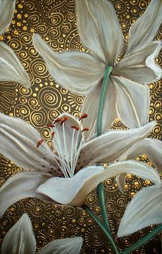 Lilies on Parade - Cherie Roe Dirksen #flower #painting