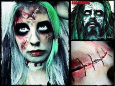 Rob Zombie film-inspired makeup