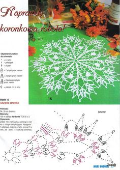 "Photo from album ""Moje robotki on Yandex. Crochet Chart, Crochet Motif, Crochet Doilies, Crochet Flowers, Crochet Christmas Ornaments, Just Do It, Dream Catcher, Fangirl, Album"