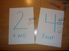 This will be a cute activity for my little firsties struggling with 1:1 correspondance.  (amodernteacher.com)