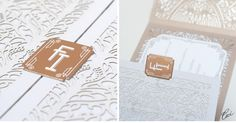 CeciStyle V115: A Cut Above :: Our Muse - Look 2: Dramatic, Deco-Detailed Wedding - wedding, invitations, letterpress printing, laser-cut printing, die-cutting, foil printing