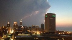 Storm over Cleveland, Ohio. Photo by Nick Eberhardt. For more photos, visit wunderground.com