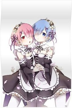 Re:Zero Rem And Ram  Poster