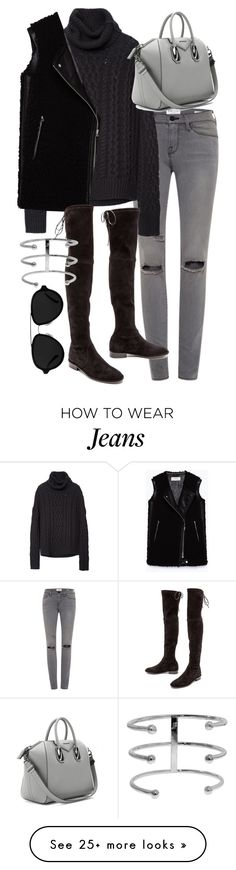 """""""Untitled #19470"""" by florencia95 on Polyvore featuring Frame Denim, Zara, Givenchy, 3.1 Phillip Lim and Stuart Weitzman"""