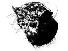 """This is """"PANTHER - PROCESS"""" by Magomed Dovjenko on Vimeo, the home for high quality videos and the people who love them. Black Ink Art, Panther, Illustrators, Owl, Darth Vader, Animation, Abstract, Animals, Fictional Characters"""