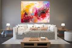 Items similar to Large Painting on Canvas,Original Painting on Canvas,modern wall canvas,abstract originals,huge canvas painting on Etsy Large Abstract Wall Art, Large Canvas Art, Large Wall Art, Large Art, Office Wall Art, Home Decor Wall Art, Hallway Art, Bedroom Decor, Texture Painting