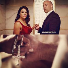 Dom and Letty Fast And Furious Cast, The Furious, Hollywood Fashion, Hollywood Actresses, Michelle Rodrigez, Dom And Letty, Dominic Toretto, Tv Show Quotes, Book Quotes
