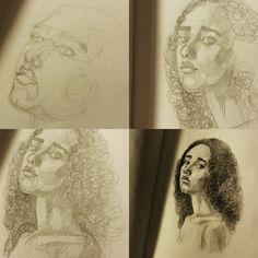 Немного последовательности. Это не просто девушка. Это выяснение того, на что способна пара карандашей. Материальное выяснение. Рисунок далёк от идеала, но, кажется, двигаюсь я в верном направлении.  #drawing #illustration #portrait #sketch #pencil #sketchbook #art #artwork #painting #eskiz #портрет #рисунок #карандаш #набросок #эскиз