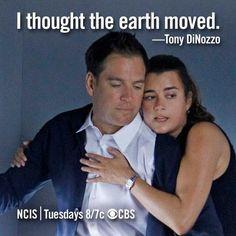 "NCIS Season 10 Episode 1 - ""Extreme Prejudice"" ~ ""I thought the earth moved."" -Tony DiNozzo"