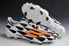 2014 Coupe du monde Chaussures de foot adidas F50 adiZero TRX FG Blanc Noir  pas cher 8a688d2e6aef7