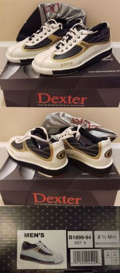 sporting goods: Brand New Dexter Men S Sst 8 Bowling Shoes White Black Gold Size 8 1 2 -> BUY IT NOW ONLY: $114.99 on eBay!
