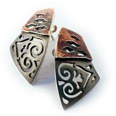 2 reconstituida eslabones cortos cadenas en Antik bronce colores 45 cm