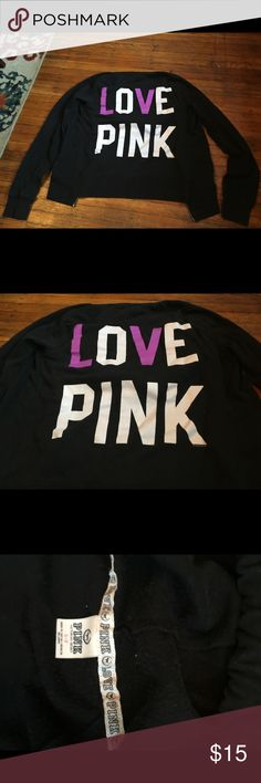 Victoria's secret PINK sweatshirt This has been worn. Any flaws shown in pics. Smoke free home:). PINK Victoria's Secret Tops Sweatshirts & Hoodies