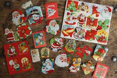 Christmas Seals ~ Vintage Lot of 35 ~ Stamps ~ Gummed Seals by smileitsvintage on Etsy