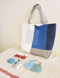 トートバッグ blue | HandMade in Japan 手仕事の新しいマーケットプレイス iichi