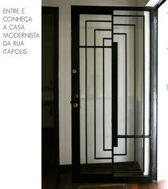 x by amna mulabegovich Modern Entrance Door, Entrance Doors, Stairs And Doors, Windows And Doors, Door Detail, Modern Art Deco, Iron Doors, Steel Doors, Art Deco Design