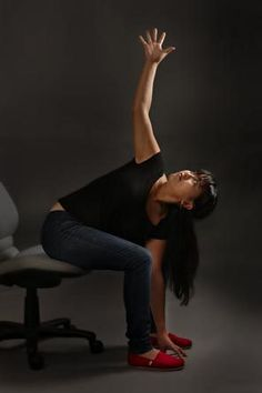 Office yoga: 8 stretches to get you through your work day: Neck stretch Face stretch: Modified forward fold: Rag doll forward fold: Deep forward fold: Folded Twist: Hip opener: Twists: Office Yoga, Office Exercise, Physical Fitness, Yoga Fitness, Yoga Moves, Senior Fitness, Yoga For Kids, Yoga Routine, Yoga Sequences
